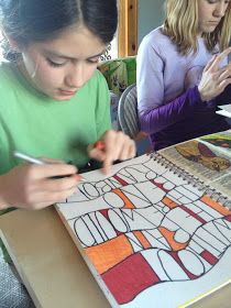 Art journaling for kids (love the quote page).