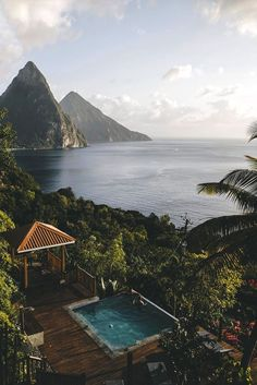 Pool with a spectacular view. Whoa. Anyone know where this is so I can start saving up?