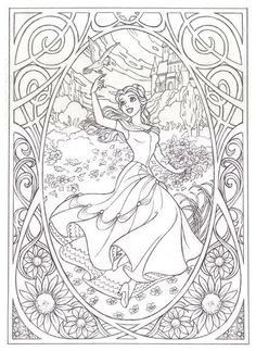 Free Coloring pages printables Make your world more colorful with free printable coloring pages from italks. Our free coloring pages for adults and kids. Coloring Book Pages, Printable Coloring Pages, Coloring Sheets, Belle Coloring Pages, Belle Beauty And The Beast, Coloring Pages For Kids, Snow White Coloring Pages, Kids Colouring, Frozen Coloring