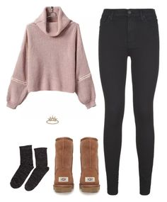 """"" by alliquick ❤ liked on Polyvore featuring moda, 7 For All Mankind, UGG Australia y Accessorize"