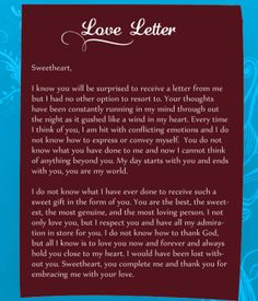 Writing a letter to your girlfriend