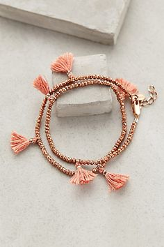 Fluttered Tassel Wrap Bracelet from Anthropologie