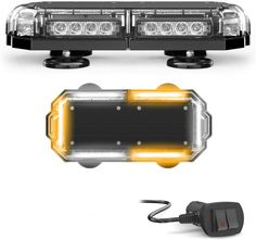 "72/"" Inch LED Warn Amber Emergency Beacon Response Strobe Lightbar Roof Tow Truck"