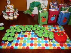 Eric Carle is one of my fave authors as a kid!! party theme is obvious. . .