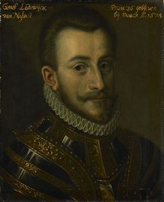 с.1609-33.Ludwig. Louis (1538-74),Count of Nassau-Dillenburg.Part of the Leeuwarden series, a series of portraits of military officials from the Eighty Years' War as well as members of the House of Orange-Nassau, first documented in 1633 in the Stadhouderlijk Hof (Stadholder's Court) in Leeuwarden.Rijksmuseum Amsterdam.