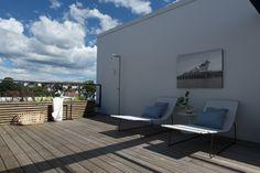 Tre-terrasse på take