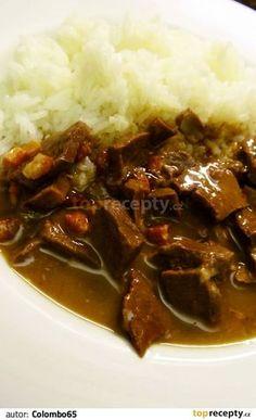 Vepřové srdce na kmínu a slanině Food And Drink, Beef, Meat, Steak