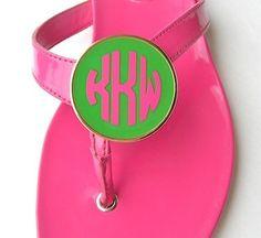 PURSELADYTOO - Personal Monogram Shoe Clips, $42.00 (http://www.purseladytoo.com/personal-monogram-shoe-clips/)