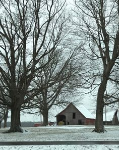 A Posey County farm after the first snow fall of the season.