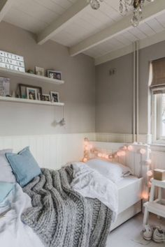 "This cosy girls bedroom is from our feature ""Merry Matters"""