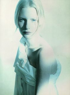 Kirsten Owen shot by Paolo Roversi for Romeo Gigli 1988