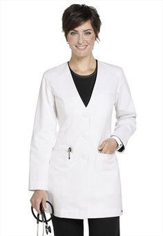 Greys Anatomy ladies welt pocket lab coat.