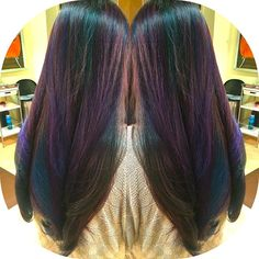 oil slick hair - Goo