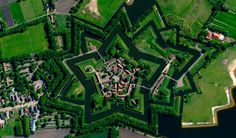 A View From Satellite On Bourtange Village, Holland Photography By: Apple Maps