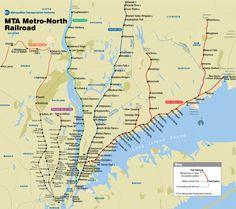 Map of MTA Metro-North Railroad