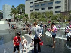Kids losing their minds at Grand Park in Los Angeles