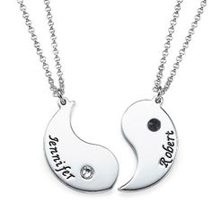 Engraved Yin Yang Necklace for Couples | MyNameNecklace #Personalized #YinYang