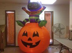 Gemmy Prototype Airblown Inflatable Halloween Animated Turn Cat Onpumpkin 60981 | eBay