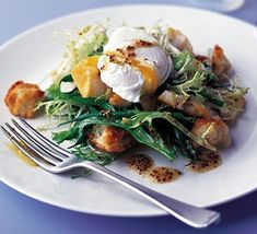 This bistro-style salad would traditionally feature bacon, so using smoked haddock lends it a touch of unpredictability