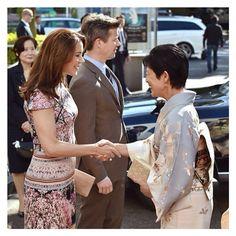 The Crown Prince & Crown Princess of Denmark meeting the Princess Takamado.
