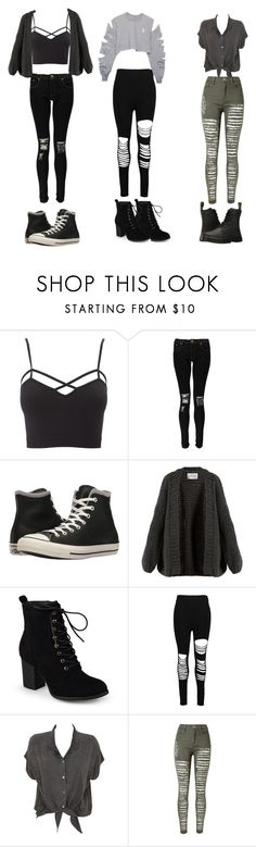 """""""My mood all the time"""" by jennachurch ❤ liked on Polyvore featuring Charlotte Russe, Boohoo, Converse, I Love Mr. Mittens, Journee Collection, Evil Twin, WithChic, Dr. Martens and plus size clothing"""
