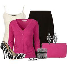 """Pink Zebra"" by leebee11 on Polyvore"