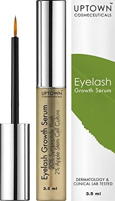 Uptown Cosmeceuticals Eyelash Growth Serum 35ml  Advanced Formula Contains Myristoyl Pentapeptide17  Apple Stem Cell Extract for Lashes and Eyebrows >>> See this great product.