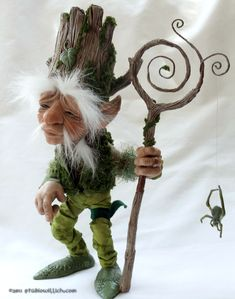 Birch WhiteOak StudioWillich OOAK Art Doll Elf