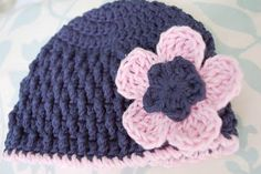 Alli Crafts: Free Pattern: Triple Crochet FlowerInstructions:  Round 1: Magic Ring, ch 3, 10 dc.  Join with sl st to top ch of ch 3. Round 2: *Ch 3.  4 tc in next dc.  Ch 3, sl st in next dc.  Repeat from * 4 times.  Finish off.  I topped it off with this little flower.