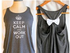 Adding a bow to work out clothes for some needed cuteness!..cute!