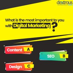 OnlinePoll, Dextrousinfo,Design & SEO What is most important to you in digital marketing? Seo Marketing, Digital Marketing Services, Online Marketing, Web Development Agency, Design Development, Web Design Agency, Content