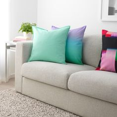 IKEA - GURLI, Cushion cover, light turquoise-green, Cotton is a soft and easy-care natural material that you can machine wash. The hidden zipper makes the cover easy to remove. Light Turquoise, Cushion Pads, Cushion Covers, Recycling Facility, Natural Materials, Kallax, Love Seat, Cushions, Turquoise
