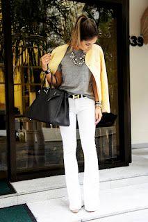 Adoro calça branca!