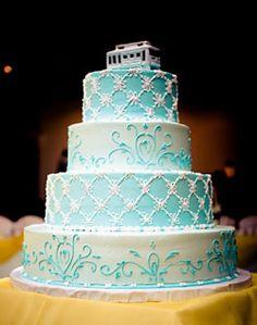Beautiful Blue Wedding Cake