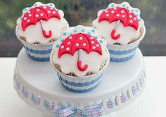 Rainy Day Umbrella Cupcakes