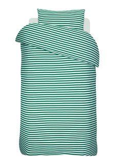 Tasaraita duvet cover and pillow case by Marimekko. Scandinavia Design, Marimekko, Scandinavian Living, Nordic Design, Drapery Fabric, Linen Bedding, Duvet Covers, Print Patterns, Branding Design