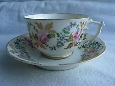 19thC Derby Porcelain Porcelain Hand Painted Cup & Saucer C1810