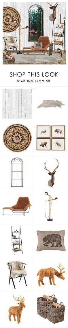 """Cabin Retreat"" by kiera-jay ❤ liked on Polyvore featuring interior, interiors, interior design, home, home decor, interior decorating, NLXL, Carola Van Dyke, Zanotta and Castor"