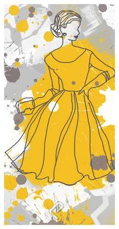 Women in Yellow Dress, Giclee Print on Photo Satin Paper by Irena Orlov at PosterCartel