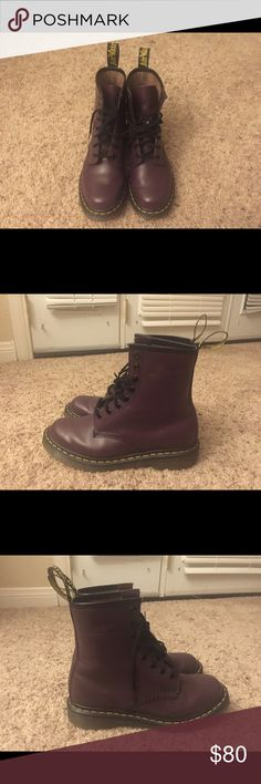 Dr.Martens Women's 1460 Smooth in purple size 8 Comfort and stylish boot in great condition. Go with every style! No scartches on the boots! Dr. Martens Shoes Ankle Boots & Booties