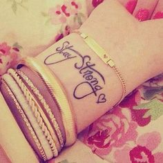 """""""Stay strong."""" 