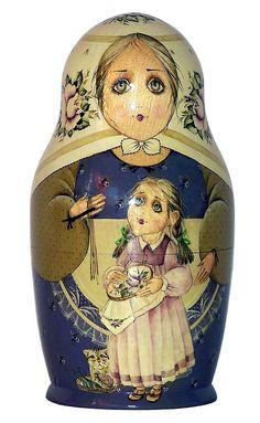 Babushka Nesting Doll. http://www.pinterest.com/MatryoshkasSoap/one-of-a-kind-matryoshka/