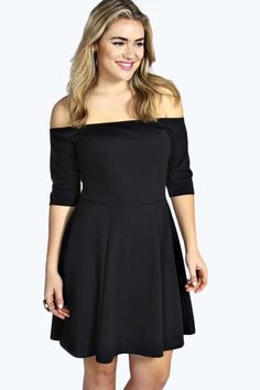 Sophie Bardot Skater Dress at boohoo.com