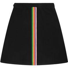 être cécile A-line Rib Mini Skirt ($200) ❤ liked on Polyvore featuring skirts, mini skirts, a line mini skirt, drawstring mini skirt, elastic waist skirt and mid thigh skirts