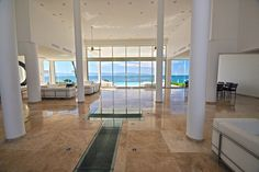 Love the marble flooring leading to that incredible view