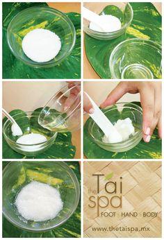 DIY Mascarilla exfoliante de coco y menta
