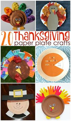 Thanksgiving Paper Plate Crafts for Kids (Find turkeys, pies, pilgrims, and more!) - Crafty Morning