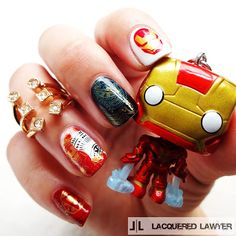 Lacquered Lawyer | Nail Art Blog: Iron Man