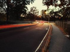 Having fun with the shutter speed.  #camera #shutter #shutterspeed #night #light #road #speed #picoftheday #sunset