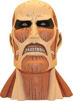 Hucha Colossal Titan 23 cm. Ataque a los Titanes. Plastoy  Estupendo busto de uno de los gigantes humanoides conocido como Colossal Titan de 23 cm, fabricado en material de poliresina de alta y visto en el manga/anime Ataque a los Titanes. Una pieza 100% oficial y licenciada ideal para regalar.